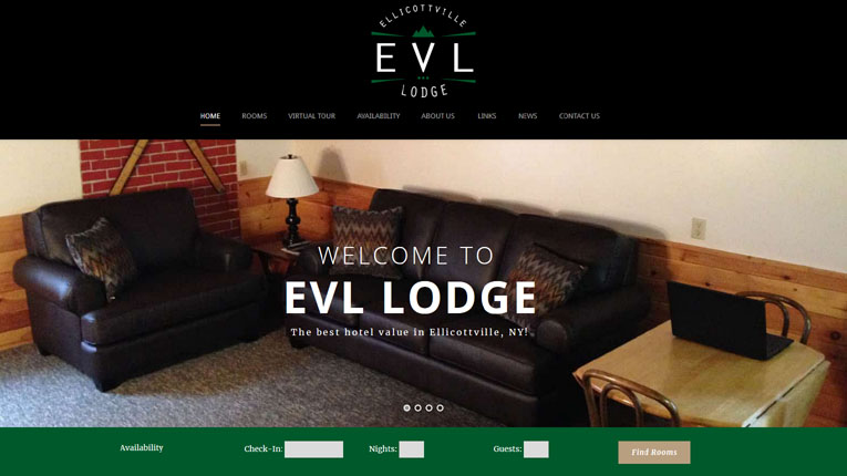 EVL Lodge Website Design